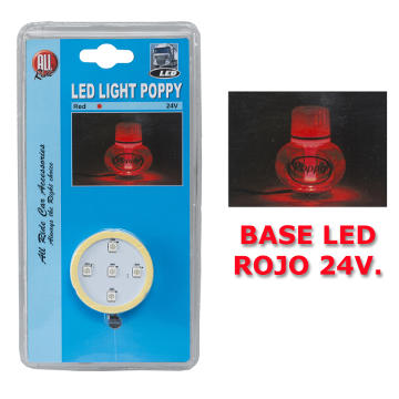 BASE ALL RIDE POPPY LED ROJO 12/24V